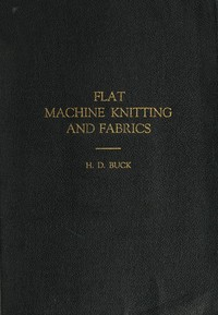 cover for book Flat Machine Knitting and Fabrics