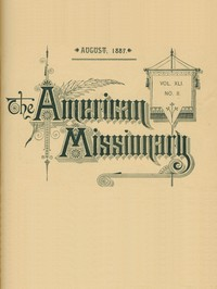 cover for book The American Missionary — Volume 41, No. 8, August, 1887
