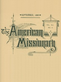 cover for book The American Missionary — Volume 41, No. 9, September, 1887