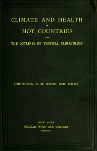 cover for book Climate and Health in Hot Countries and the Outlines of Tropical Climatology