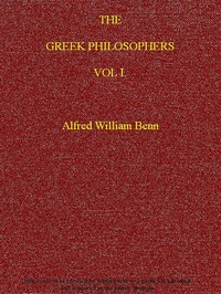 cover for book The Greek Philosophers, Vol. I (of 2)