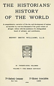 cover for book The Historians' History of the World in Twenty-Five Volumes, Volume 5
