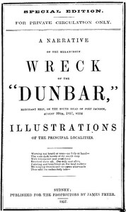 Cover of the book A Narrative of the Melancholy Wreck of the Dunbar by Anonymous