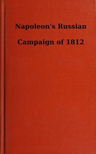 cover for book Napoleon's Russian Campaign of 1812