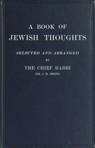 cover for book A Book of Jewish Thoughts
