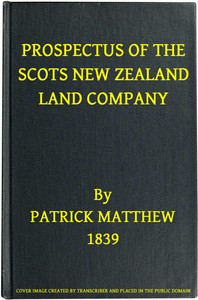 cover for book Prospectus of the Scots New Zealand Land Company