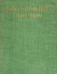 cover for book Studies in Irish History 1603-1649