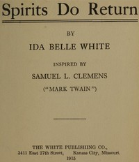 cover for book Spirits Do Return