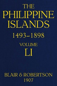 cover for book The Philippine Islands, 1493-1898, Volume 51, 1801-1840