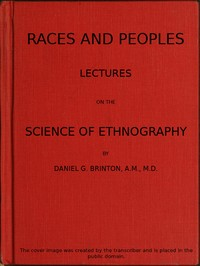 Cover of the book Races and Peoples by Daniel G. (Daniel Garrison) Brinton