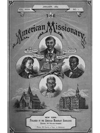 cover for book The American Missionary — Volume 36, No. 1, January, 1882