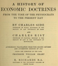Cover of the book A History of Economic Doctrines by Charles Rist