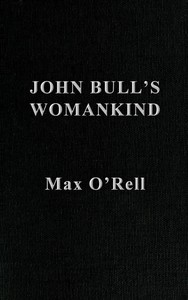 cover for book John Bull's Womankind