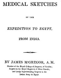 cover for book Medical Sketches of the Expedition to Egypt, from India