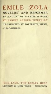 cover for book Émile Zola