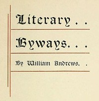 Cover of the book Literary byways by William Andrews