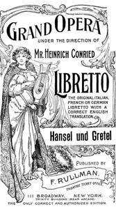 Cover of the book Hänsel and Gretel; a fairy opera in three acts by Engelbert Humperdinck