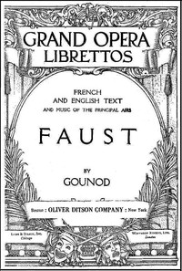 Cover of the book Faust. A lyric drama in five acts by Charles Gounod