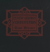 Cover of the book The new German constitution by René Brunet