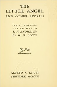 Cover of the book The little angel, and other stories; by Leonid Andreyev