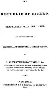 Cover of the book The republic of Cicero by Marcus Tullius Cicero