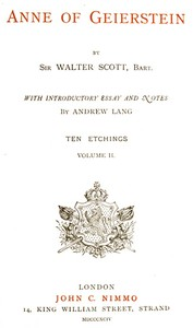Cover of the book Anne of Geierstein by Walter Scott