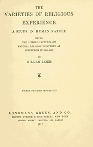Cover of the book Varieties of Religious Experience, a Study in Human Nature by William James