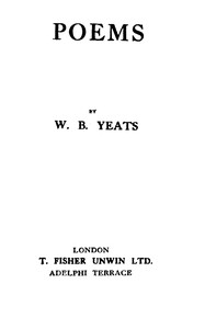 Cover of the book Poems: second series by W. B. (William Butler) Yeats