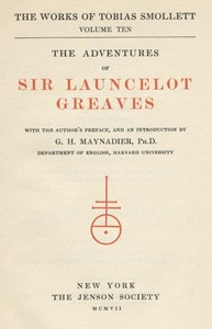 Cover of the book The Adventures of Sir Launcelot Greaves by Tobias George Smollett