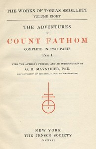 Cover of the book The Adventures of Ferdinand Count Fathom — Volume 01 by Tobias George Smollett