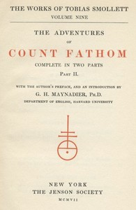 Cover of the book The Adventures of Ferdinand Count Fathom — Volume 02 by Tobias George Smollett