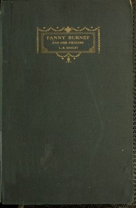 Cover of the book Fanny Burney and her friends; select passages from her letters by Fanny Burney