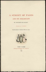 Cover of the book A Street of Paris and Its Inhabitant by Honoré de Balzac