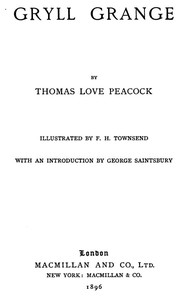 Cover of the book Gryll grange by Thomas Love Peacock