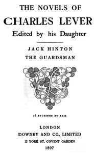 Cover of the book Jack Hinton, the guardsman by Charles James Lever
