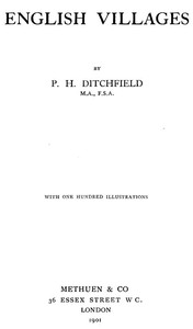 Cover of the book English Villages by P.H. Ditchfield