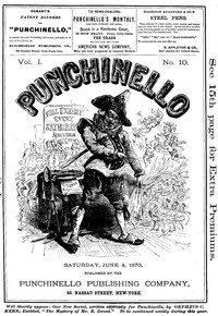 Cover of the book Punchinello, Volume 1, No. 10, June 4, 1870 by Various