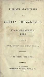 Cover of the book Martin Chuzzlewit by Charles Dickens