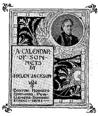 Cover of the book A Calendar of Sonnets by Helen Hunt Jackson